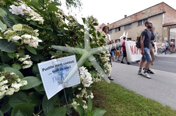 Slovenija Ljubljana 31.07.2020 31. julij 2020 Petkovi protesti proti vladi. Dogodek ljudje politika, JBTZ, Roška ulica Foto: Žiga Živulovič jr./BOBO