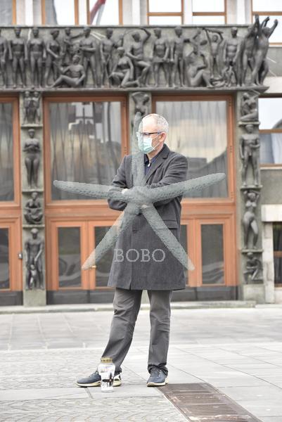 Slovenija, Ljubljana, 24.03.2020, 24. marec 2020   Franc Trček govori o prestopu v poslansko skupino SD. Socialni demokrati, Matjaž Han ,koronavirus, Covid 19  Foto: Žiga  Živulović jr./BOBO