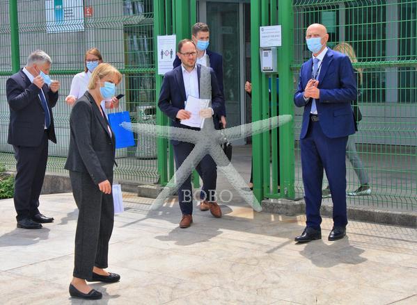 Slovenija, Krško, 22.05.2020, 22. maj 2020  Minister za infrastrukturo Jernej Vrtovec je danes obiskal NEK. Nuklearna elektrarna Krško, politika, dogodek, Stane Rožman Foto:  BOBO